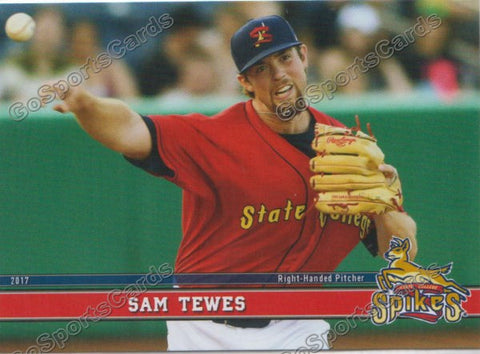 2017 State College Spikes Sam Tewes