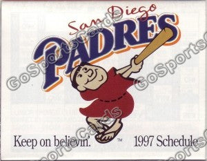 1997 San Diego Padres Pocket Schedule