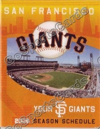 2006 San Francisco Giants Pocket Schedule
