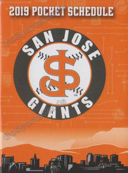 2019 San Jose Giants Pocket Schedule