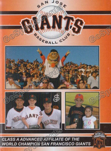 2013 San Jose Giants Pocket Schedule (Joe Panik, Andrew Susac)
