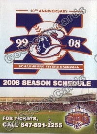 2008 Schaumburg Flyers Pocket Schedule
