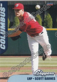 2012 Columbus Clippers Scott Barnes