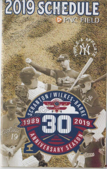 2019 Scranton Wilkes Barre RailRiders Pocket Schedule