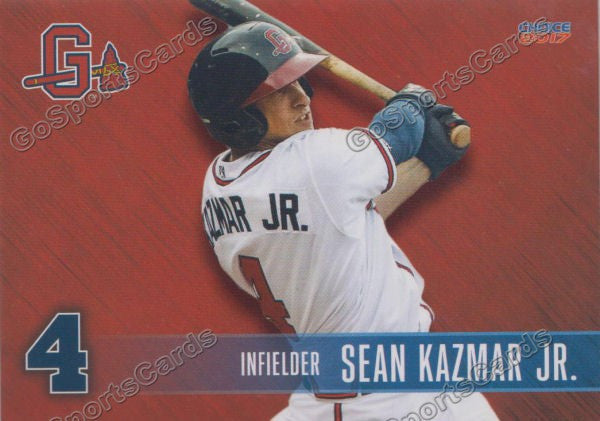 2017 Gwinnett Braves Sean Kazmar Jr