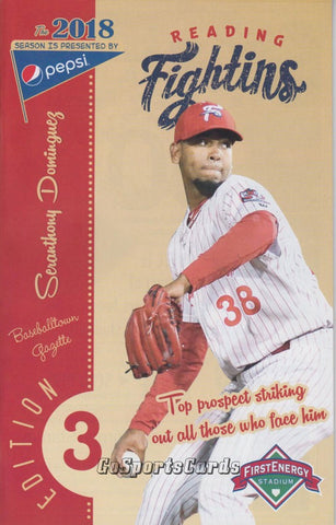 Seranthony Dominguez 2018 Reading Fightin Phils Program (SGA)