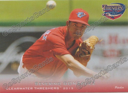 2013 Clearwater Threshers Severino Gonzalez