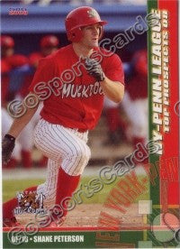 2008 New York Penn League Top Prospects Shane Peterson