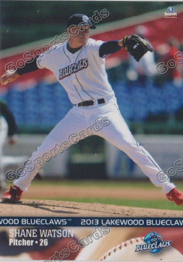 2013 Lakewood BlueClaws Team Set