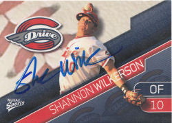 Shannon Wilkerson 2010 Greenville Drive (Autograph)