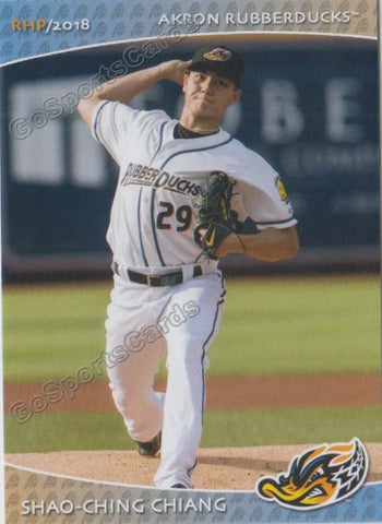2018 Akron Rubber Ducks Shao Ching Chiang