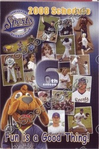 2008 Shreveport Sports Pocket Schedule