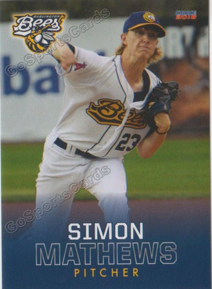 2018 Burlington Bees Simon Mathews