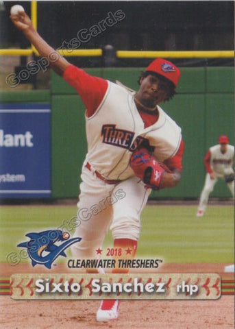 2018 Clearwater Threshers Sixto Sanchez
