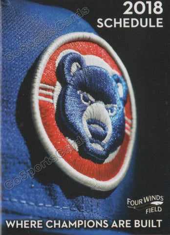 2018 South Bend Cubs Pocket Schedule