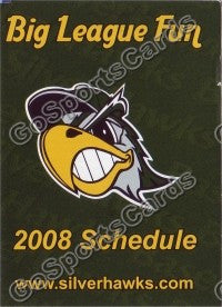 2008 Southbend Silverhawks Pocket Schedule