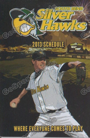 2013 Southbend Silverhawks Pocket Schedule