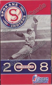 2008 Spokane Indians Pocket Schedule
