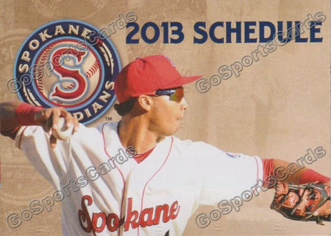 2013 Spokane Indians Pocket Schedule