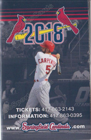 2018 Springfield Cardinals Pocket Schedule (Matt Carpenter)