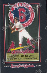 2010 Springfield Cardinals Pocket Schedule