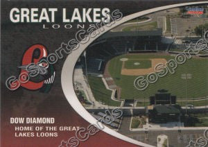 2008 Great Lakes Loons Dow Diamond Stadium Card