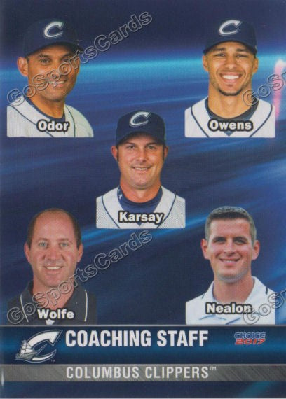 2017 Columbus Clippers Chris Tremie Rouglas Odor Steve Karsay Jerry Owens
