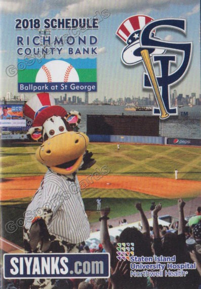 2018 Staten Island Yankees Pocket Schedule