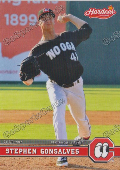 2017 Chattanooga Lookouts Stephen Gonsalves