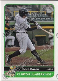 2012 Clinton LumberKings Steve Baron