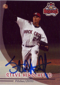 Steve Hirschfeld 2010 New Britain Rock Cats (Autograph)