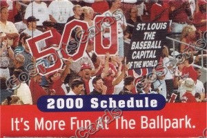 2000 St Louis Cardinals Pocket Schedule