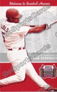 2006 St Louis Cardinals Pujols Pocket Schedule