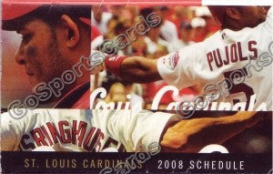 2008 St Louis Cardinals Pujols Pocket Schedule