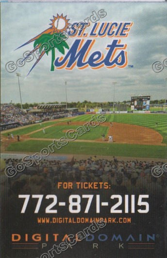 2011 St Lucie Mets Pocket Schedule