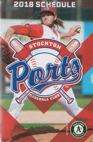 2018 Stockton Ports Pocket Schedule (AJ Puk)