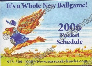 2006 Sussex Skyhawks Pocket Schedule