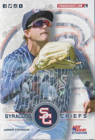 2018 Syracuse Chiefs Pocket Schedule