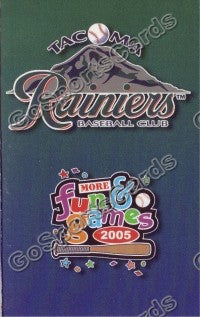 2005 Tacoma Rainiers Pocket Schedule