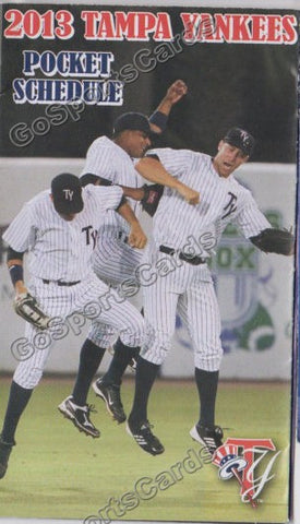2013 Tampa Yankees Pocket Schedule