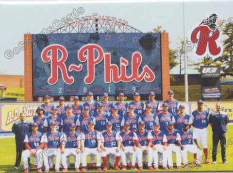 2019 Reading Fightin Phils U3 Team Photo Checklist