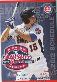 2012 Tennessee Smokies Pocket Schedule (Ty Wright)