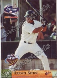 2003 Pacific Coast League All-Star Multi-Ad Terrmel Sledge