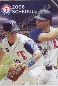 2006 Texas Rangers Young Teixeira Pocket Schedule