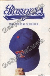 1991 Texas Rangers Pocket Schedule