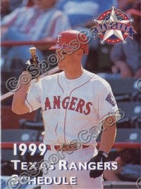 1999 Texas Rangers Pocket Schedule