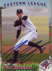 Tim Alderson 2009 Eastern League Top Prospect (Autograph)