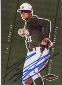 Tim Alderson 2007 Just Minors Justifiable #JF-02 (Autograph)