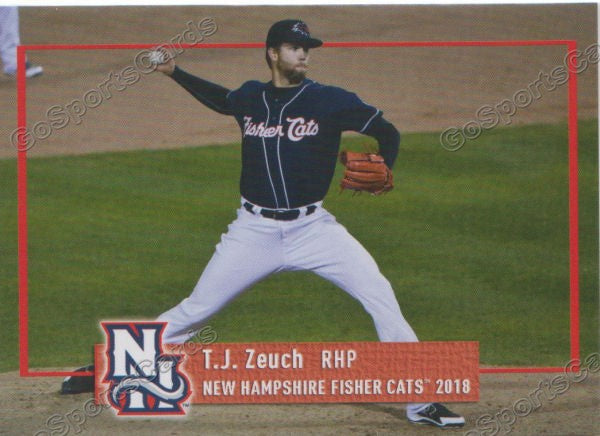 2018 New Hampshire Fisher Cats Tj Zeuch