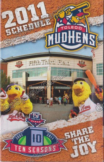 2011 Toledo Mudhens Pocket Schedule